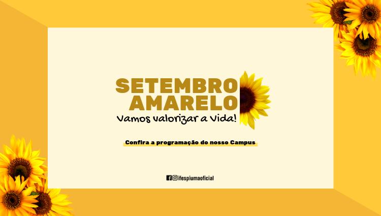 Programação Setembro Amarelo 2019