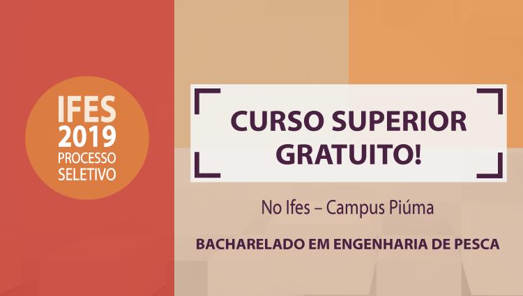 Há vagas no Campus Piúma da instituição. Inscrições acontecem entre 22 e 25 de janeiro.